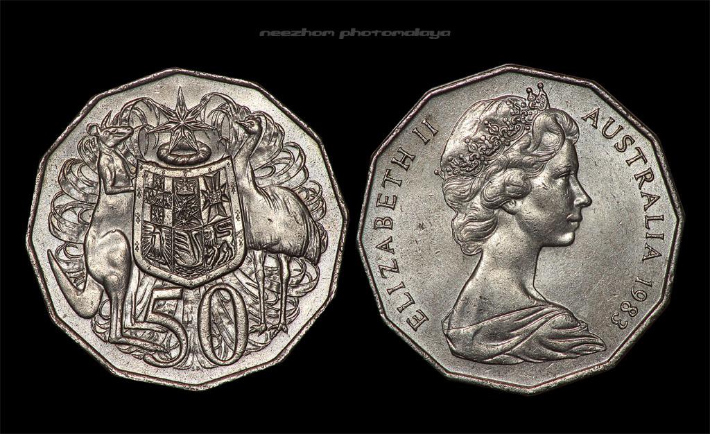 Koleksi duit syiling Australia 50 cents tahun 1983