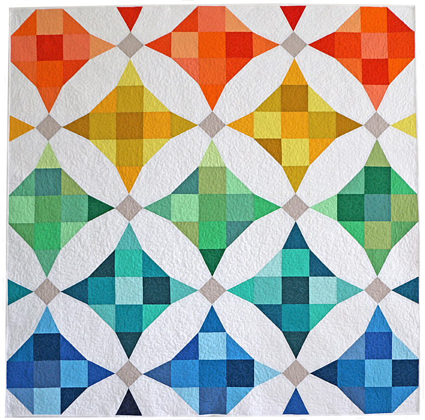 Simple Modern Quilt Patterns Free : Freshly Pieced: My Modern Solids Challenge Quilt - Plus a Pattern!