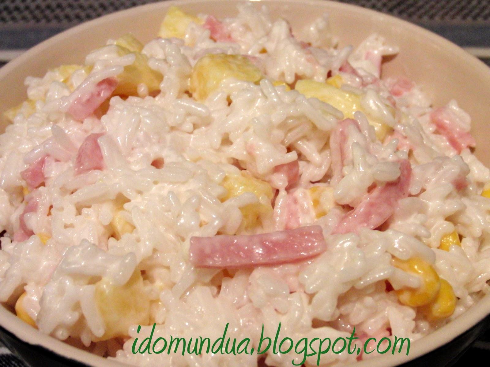 Idomundua ensalada de arroz con pi a y jam n - Arroz con alcachofas y jamon ...