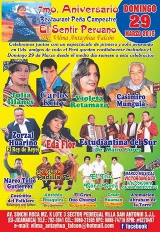 aniversario restaurante sentir peruano