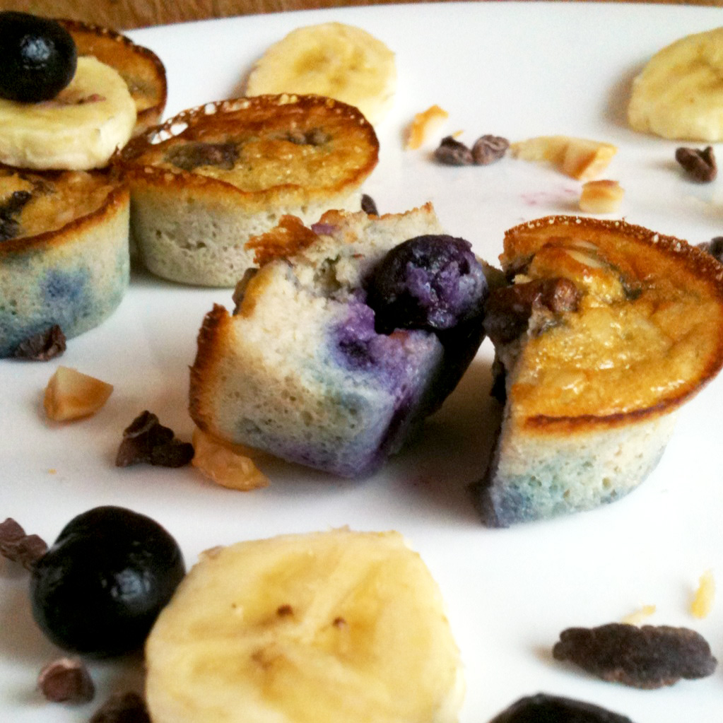 Live Right Be Healthy: Simple Blueberry Banana Egg Muffins