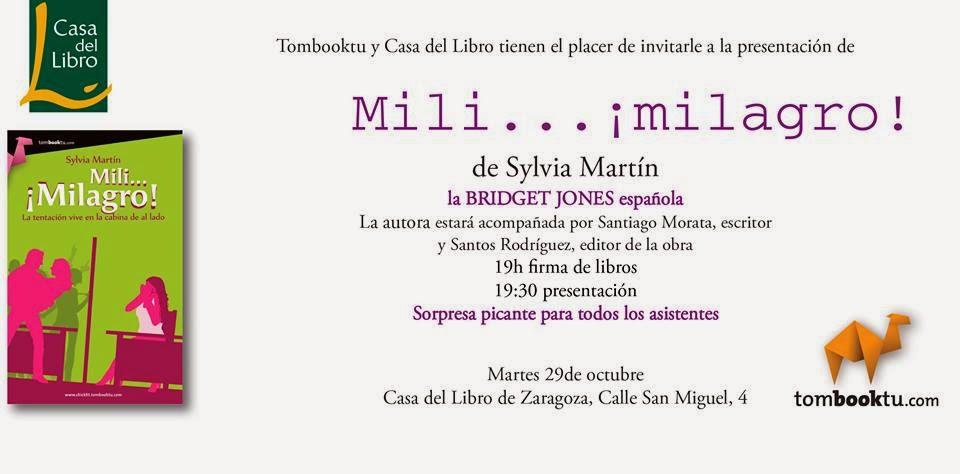 """Presentación """"Mili... ¡Milagro!"""" en Zaragoza 29.10.13 Sylvia+Martin+Zaragoza"""