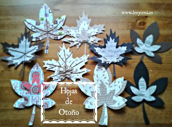 Hojas de otono aprender manualidades es - Manualidades para el otono ...