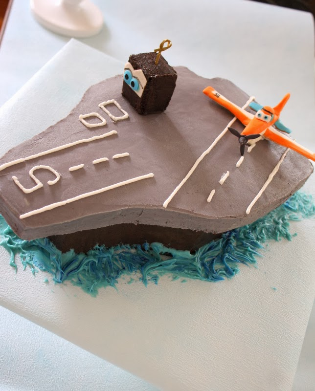 Aircraft Carrier with Dusty Crophopper Cake Topper