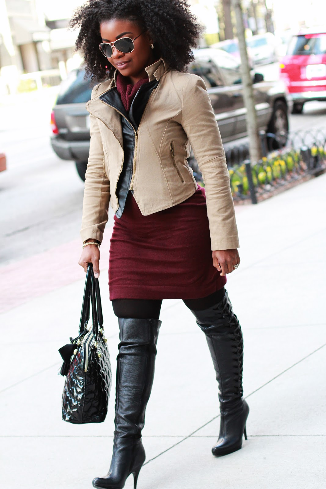 The Serena Saga Outfit Moto Jacktet Amp Oxblood And A