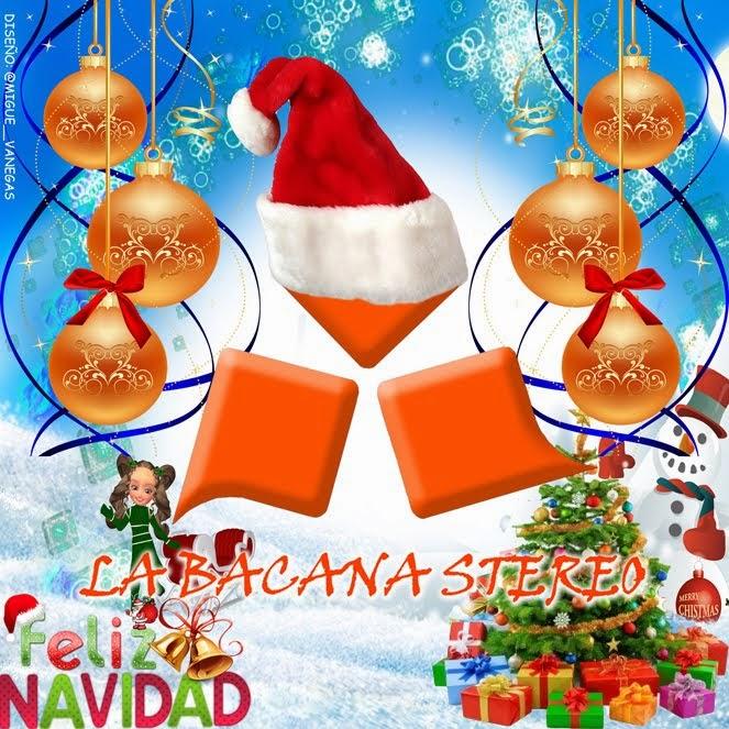 Logo oficial navideño 2014 de La Bacana Stereo