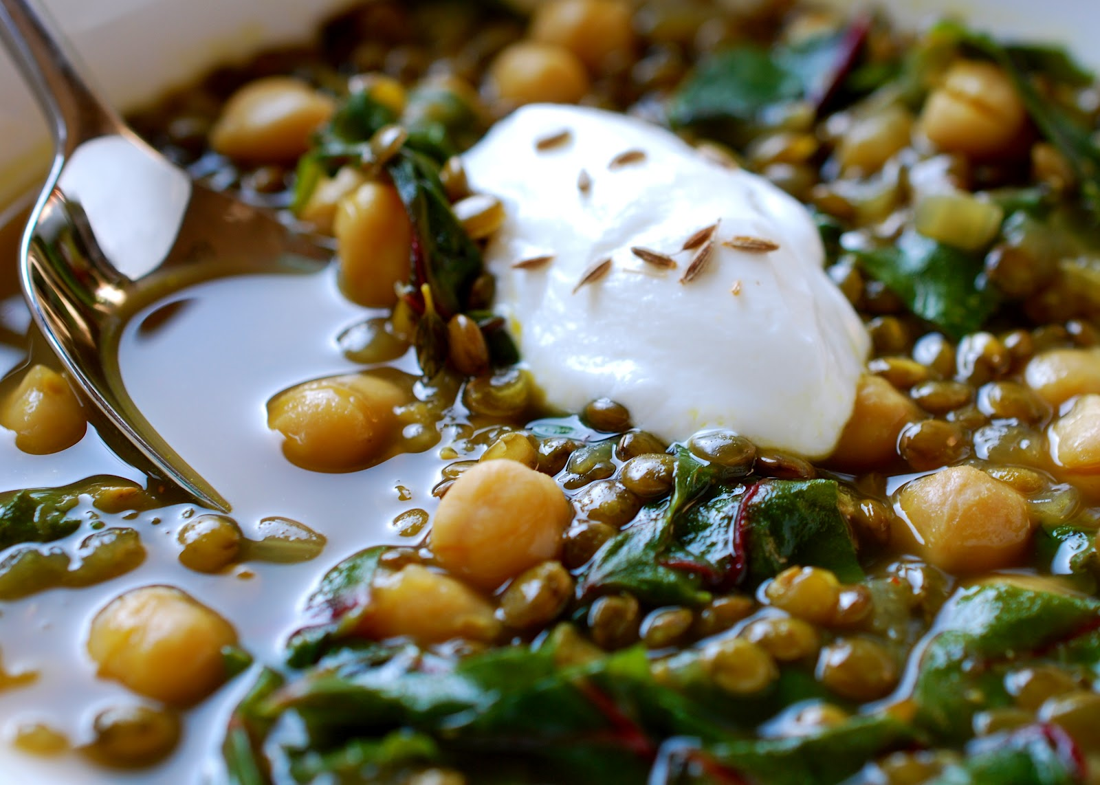 Cooking with Larue: Curried Chickpea, Lentil and Swiss Chard Stew