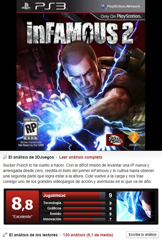 Infamous 2 -PS3-