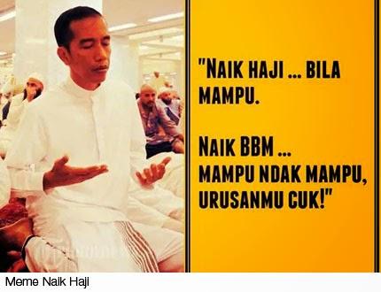 Meme Naik Haji : Gambar BBM Naik