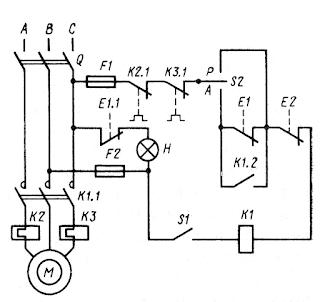 Принципиальная схема электропривода топливного насоса