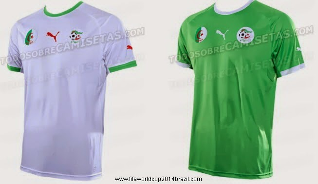 Algeria FIFA World Cup 2014 Brazil all Team Kit