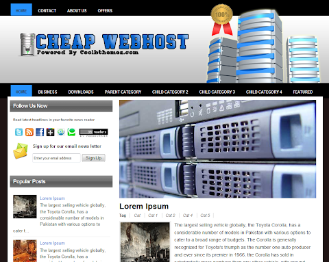 Cheap Webhots Blogger Theme