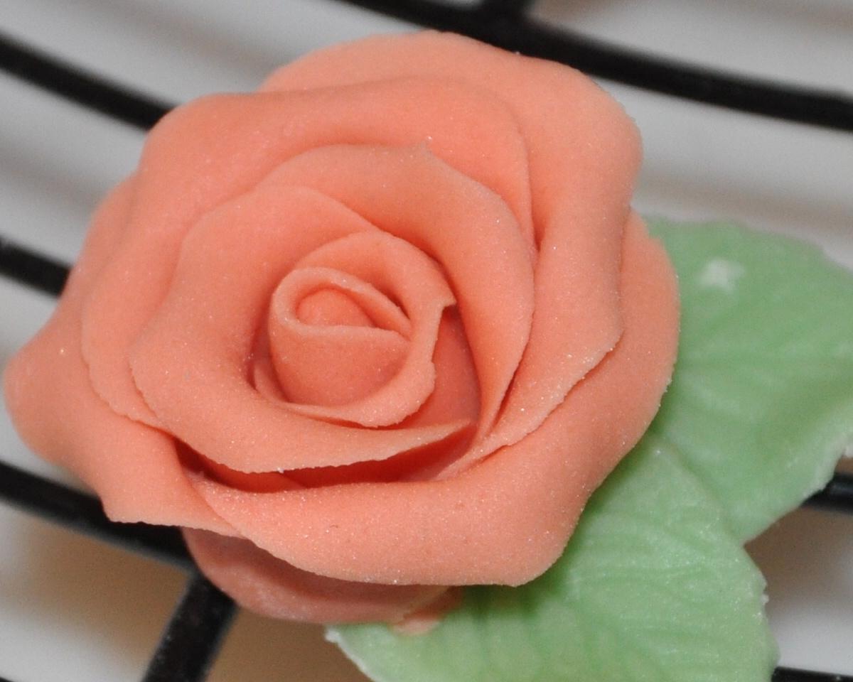 dolci decori e non solo: Rosa color pesca