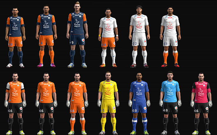 PES 2013 Montpellier 12 13 Kit Set by wilou