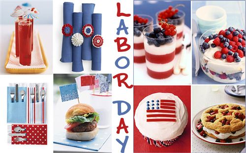 Unique Free Printable Labor Day Decorations: Many Foods Decorations Such As Cupcake, Yogurt, Hamburges For Labor Day