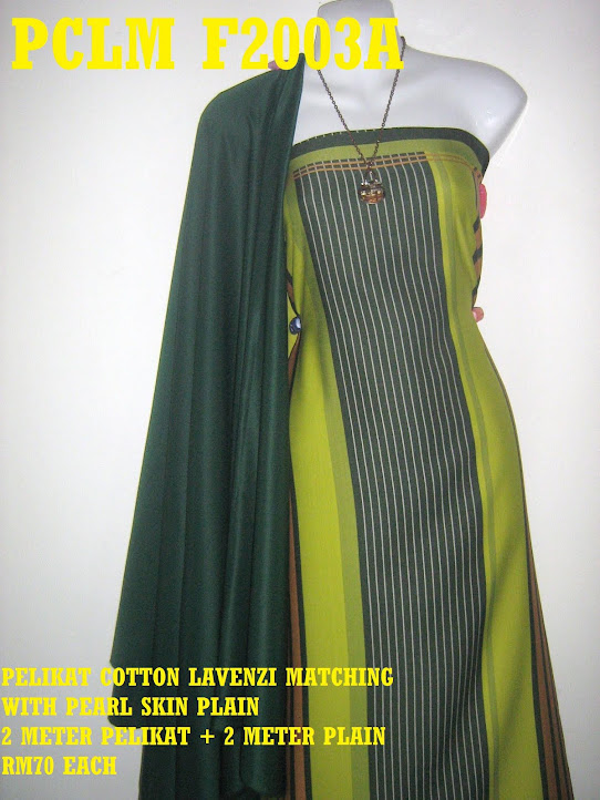 PCLM F2003A: PELIKAT COTTON LAVENZI MATHING WITH PEARL SKIN PLAIN
