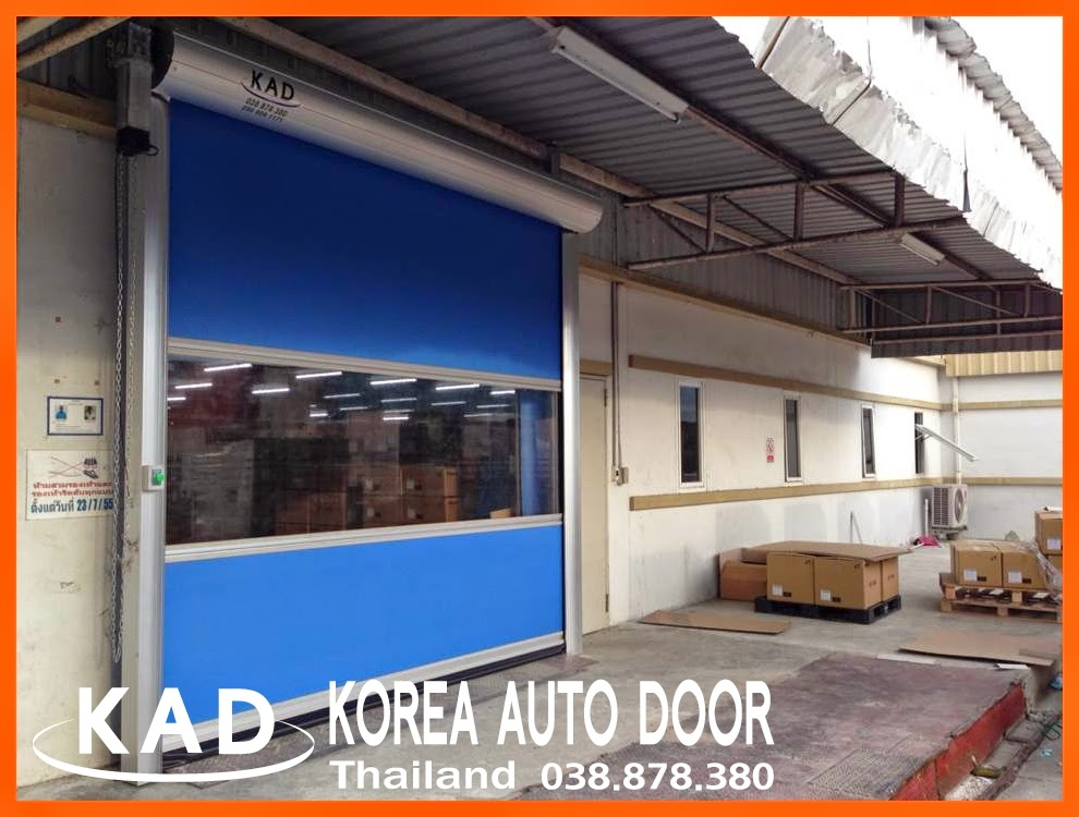 even in Thailand kad high speed door(ประตูอัตโนมัติความเร็วสูง) do the A/S very quickly