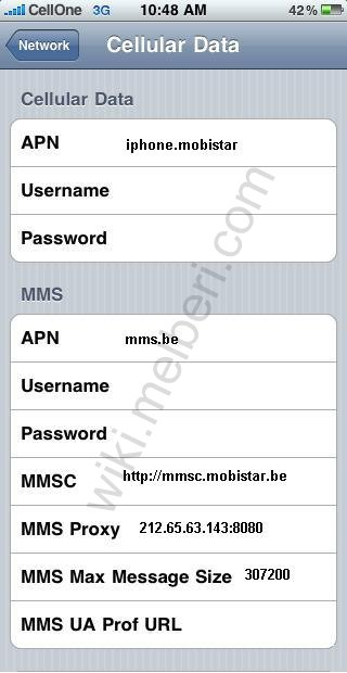 Mobistar APN Settings for iPhone Android HTC iPad Belgium | MMS