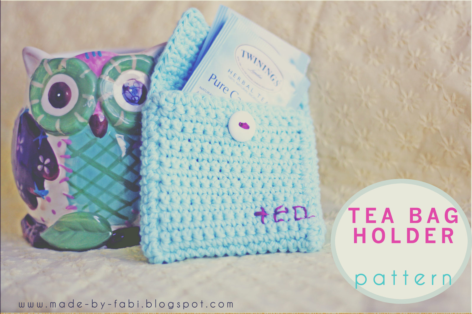 How to Crochet Tea Bag Holder Pouch