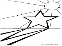 Lembar Mewarnai Gambar Bintang