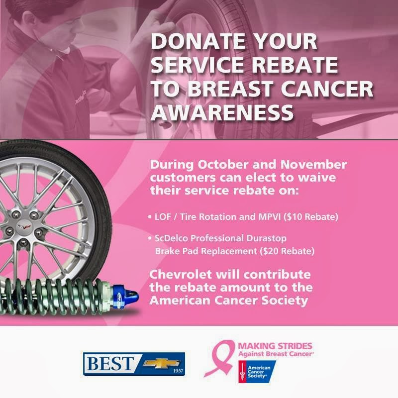 Donate Your Chevrolet Service Rebate To Breast Cancer Research