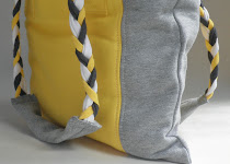 Yellow Grey Tote