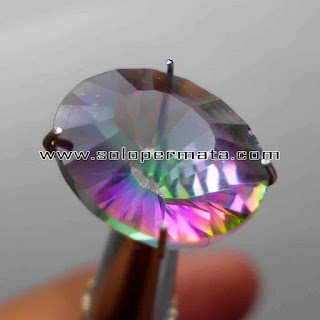 Batu Permata | Natural Rainbow Mistique Quartz Asli | Kecubung Pelangi