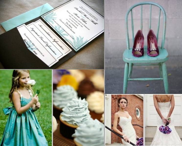 Purple is the other 2012 big color Pair it with the wildly popular teal and