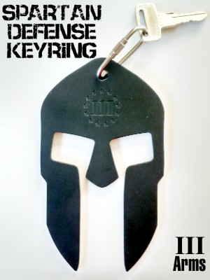 Spartan Defense Keyring