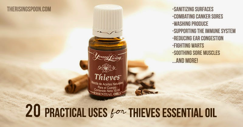 20 Practical Uses for Thieves Essential Oil | therisingspoon.com