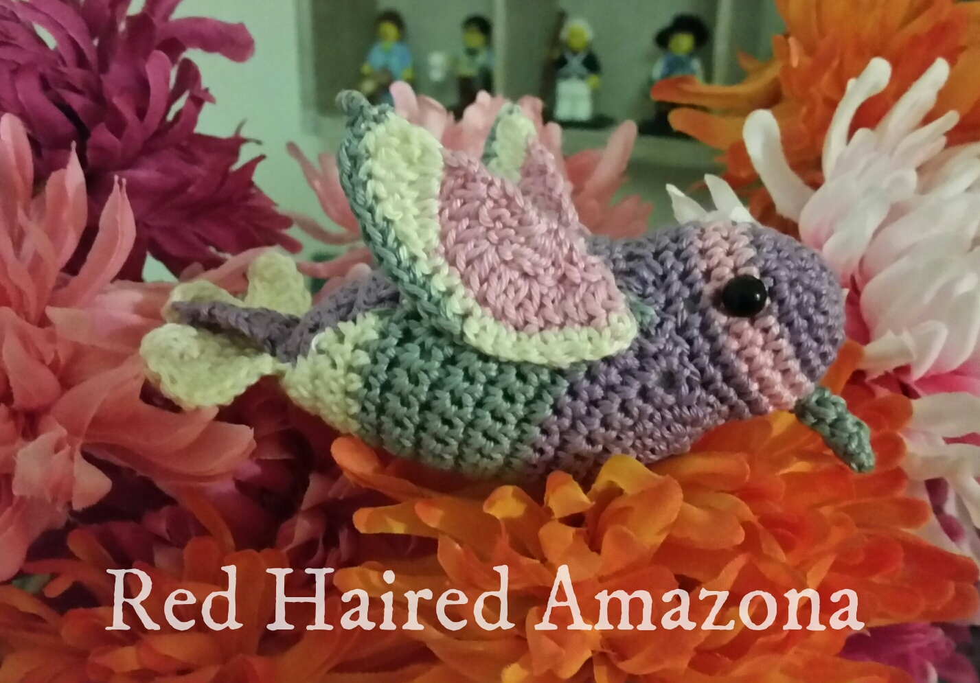 Amigurumi Hummingbird Pattern : Red Haired Amazona: Amigurumi Birds