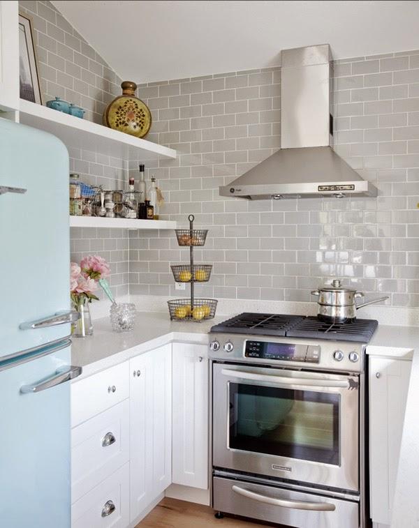 Inspiraci n cocinas con toques n rdicos decoratualma - Limpieza de azulejos de cocina ...