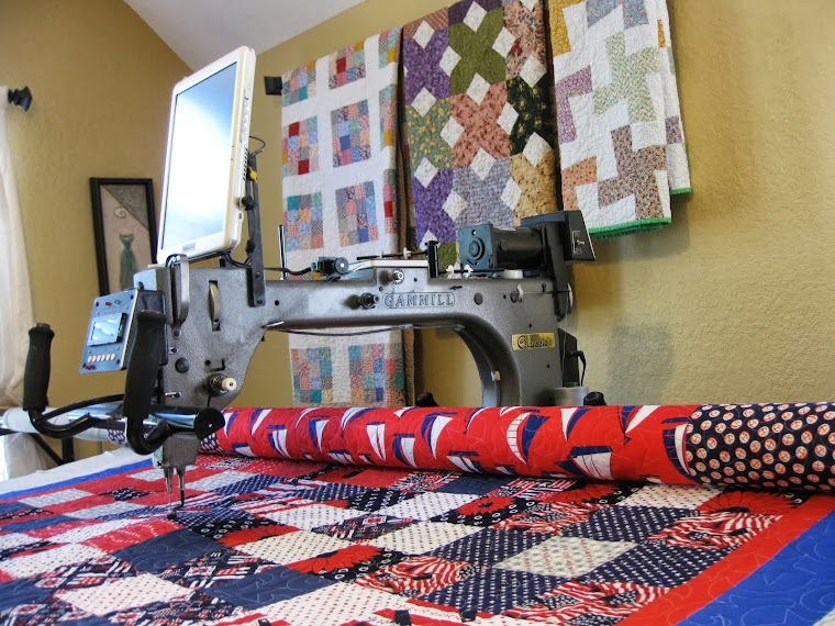Longarm machine quilting