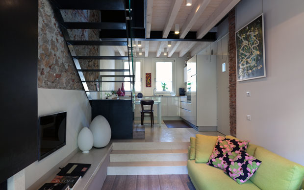 Appartamento duplex 45 mq giorgio parise architetto for Appartamenti a 2 livelli