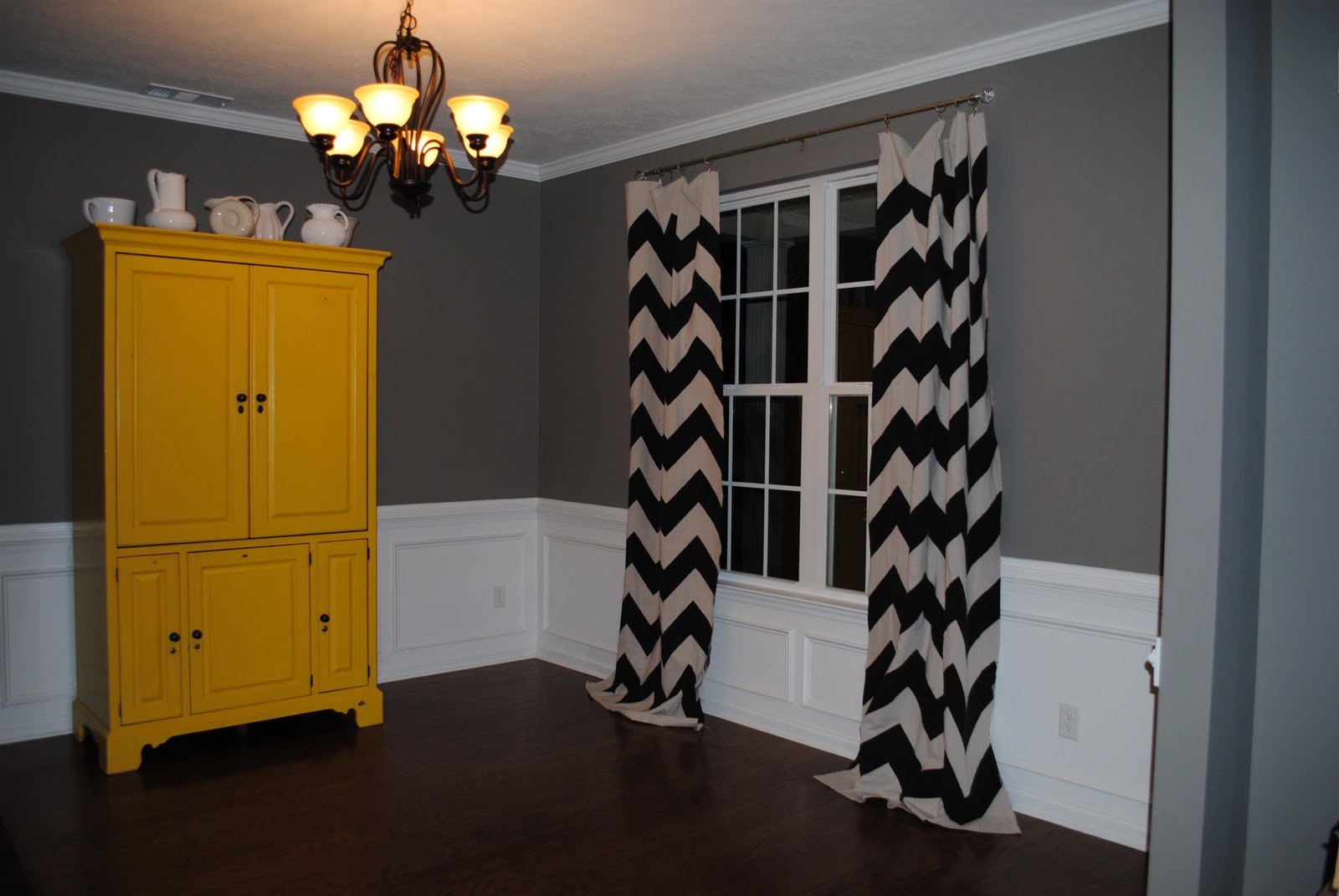 A drop in the bucket chevron curtains a tutorial for Chevron curtains in living room