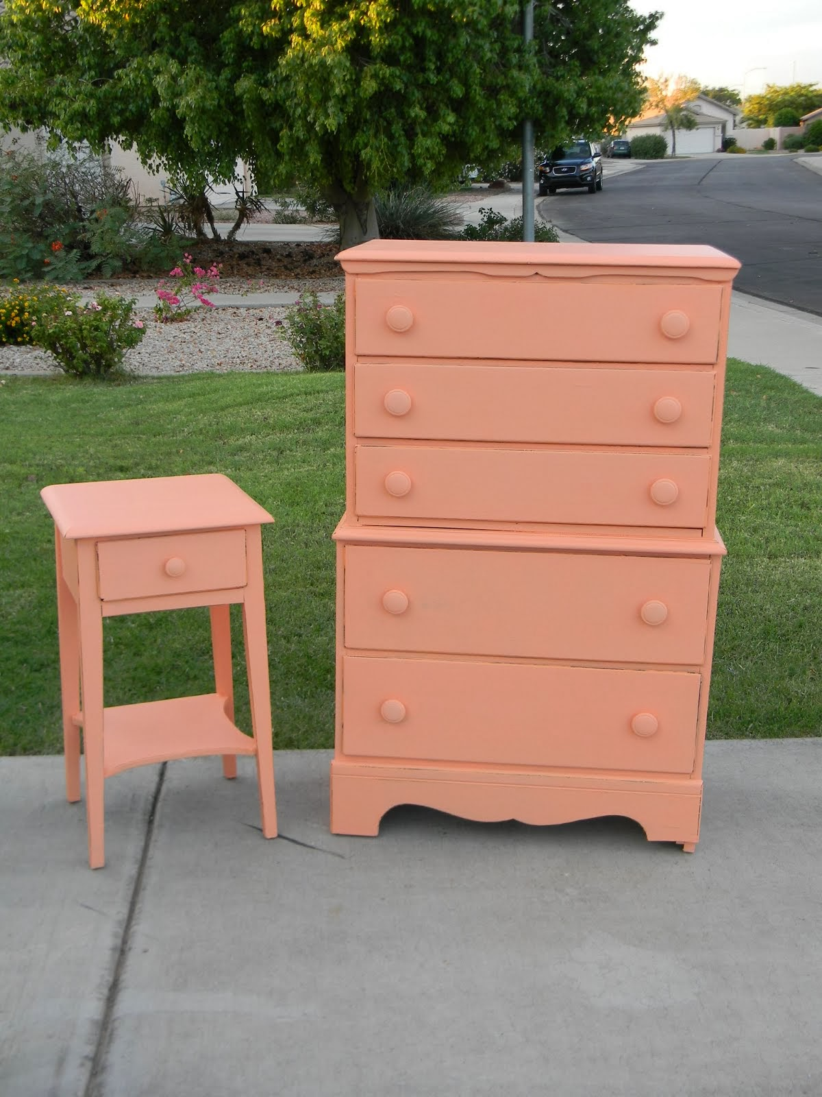 Shabby Chic Dresser and Nightstand  *SOLD*