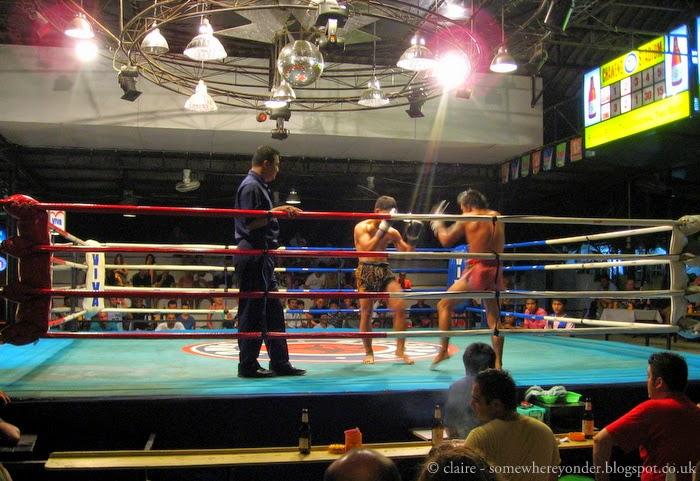 Thai kick boxing in action - Koh Samui, Thailand