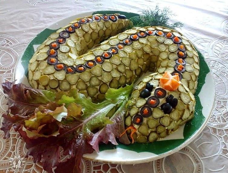 Салат змейка с фотографиями и рецептами для праздничного стола