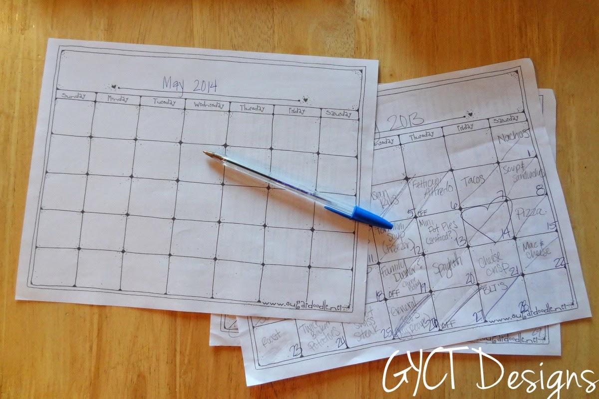 Week 1:  Menu Planning for Organize Me!  Sizzlin' Summer
