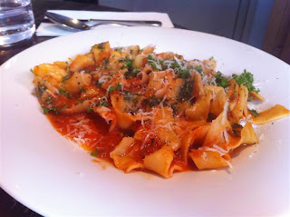 Stitch and Bear - Pappardelle with sausage at Il Primo