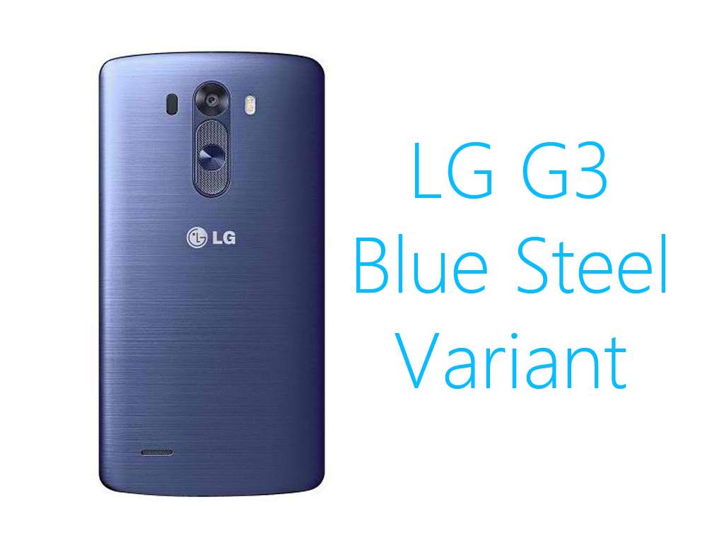 LG Releases Blue Steel Variant of LG G3
