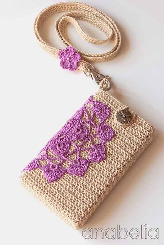 Free Crochet Pattern Mobile Phone Case : Anabelia craft design: Highlight your look with pretty ...