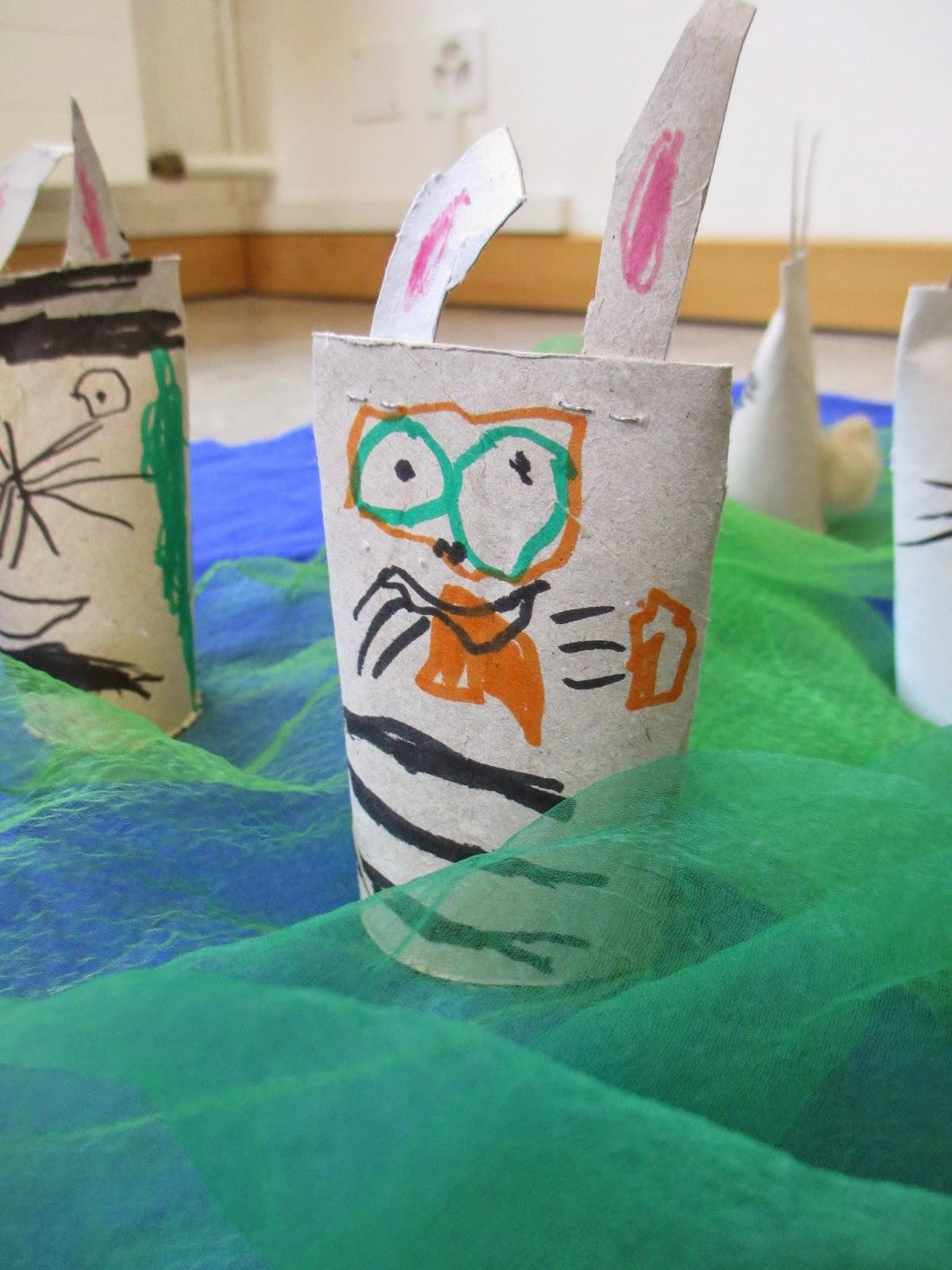 werken und gestalten Hasen im Kindergarten