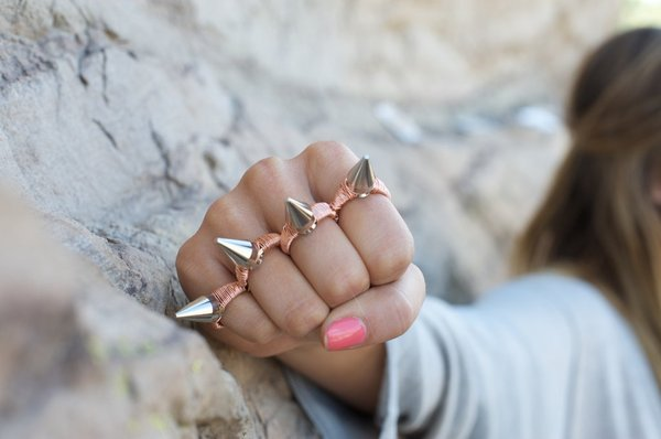 crafty jewelry: spiked knucklebuster ring tutorial