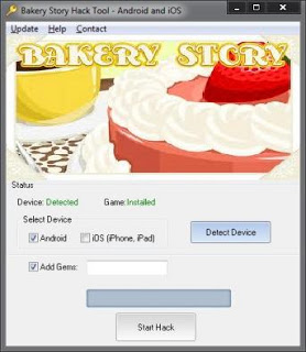 Bakery Story Free Hack Tool Android,iOS