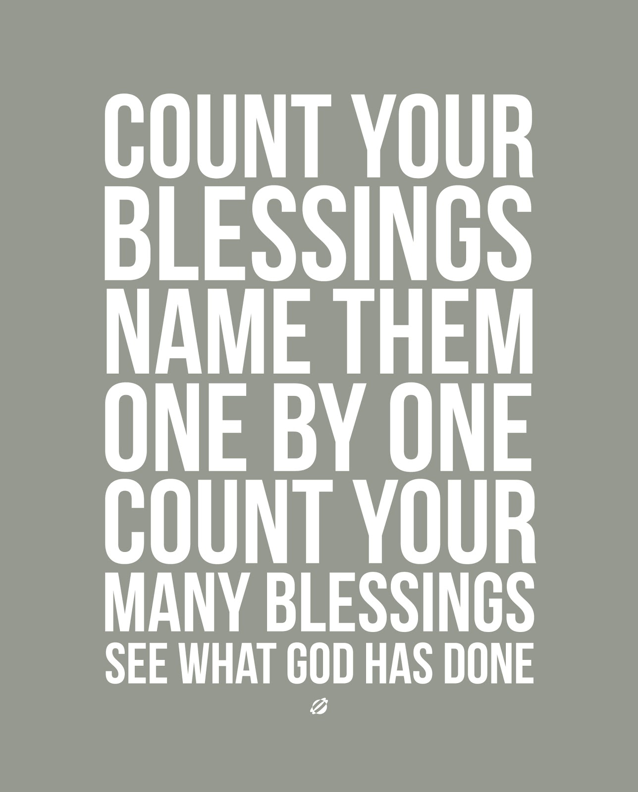 LostBumblebee 2013- COUNT YOUR BLESSINGS V3-LightGrey - Free Printable