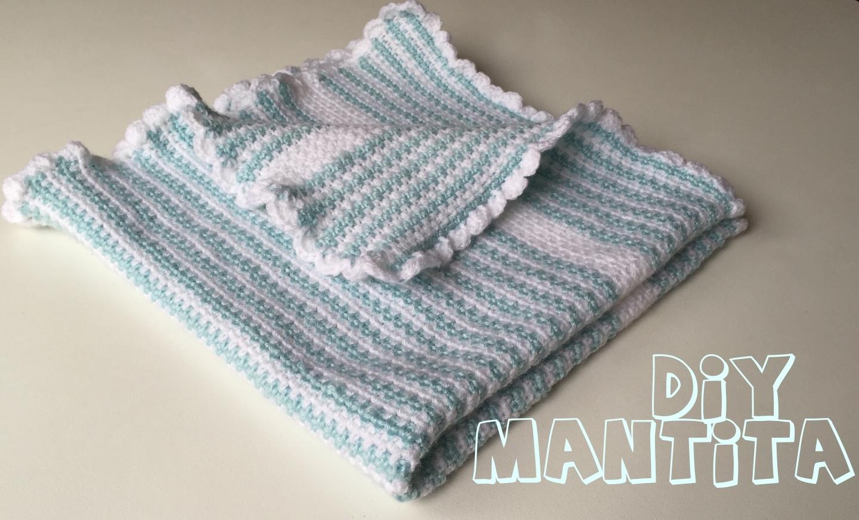 DIYmoda conEmíl: Manta de bebé en crochet
