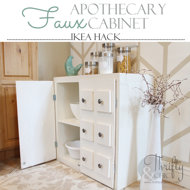 Faux Apothecary Cabinet Ikea Hack