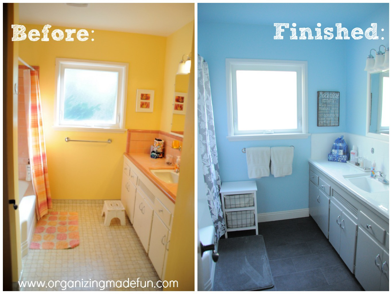 Our kids bathroom makeover reglazing results organizing made the dailygadgetfo Gallery