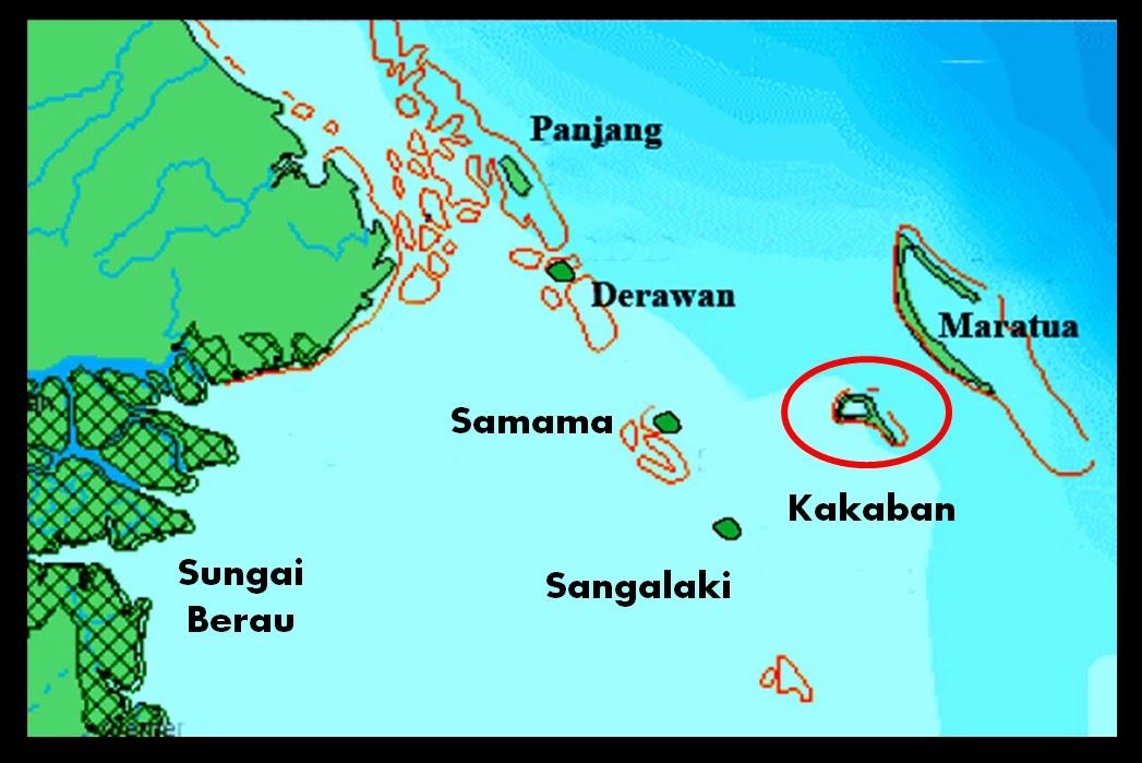 Letak geografis pulau derawan